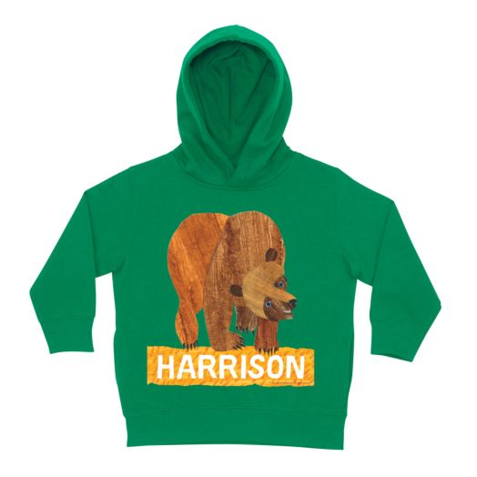 Brown Bear Classic Green Toddler Hoodie