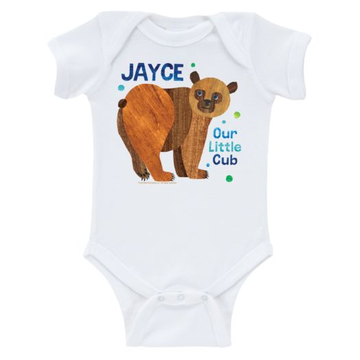 Brown Bear Boy Little Cub White Infant Bodysuit