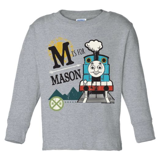 Thomas & Friends Gray Long Sleeve Initial Tee