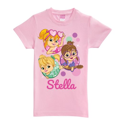 Alvin and the Chipmunks Pink Fitted T-Shirt