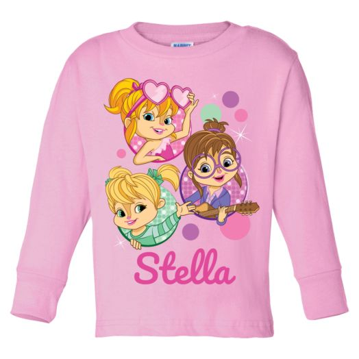 Alvin and the Chipmunks Pink Long Sleeve T-Shirt