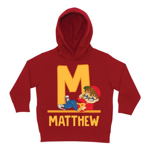 Alvin and the Chipmunks Initial Red Hoodie