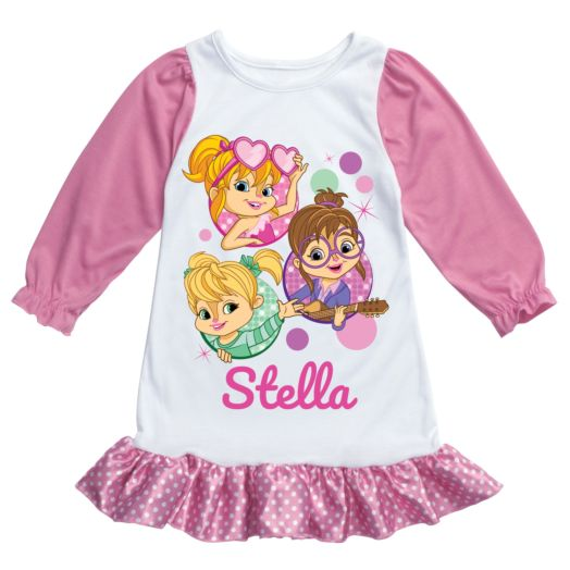Alvin and the Chipmunks Pink Nightgown