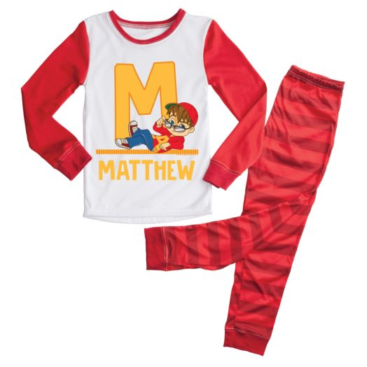Alvin and the Chipmunks Initial Boy Pajamas