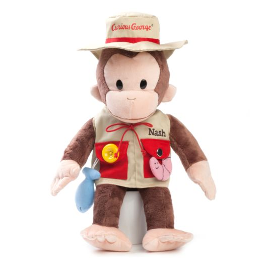 Personalized Curious George Teach Me Fisherman