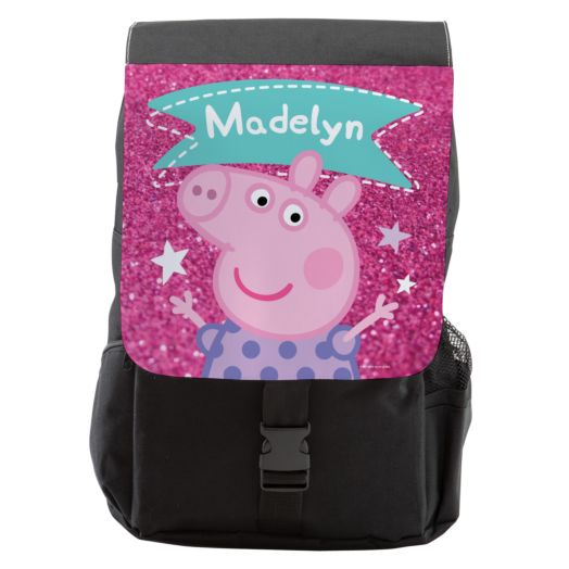Peppa Pig Sparkle Youth Flap Backpack