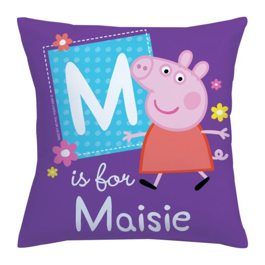 Peppa Pig Alphabet Throw Pillow