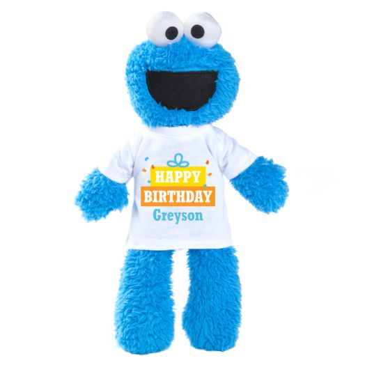 Sesame Street Cookie Monster Plush with Personalized Birthday Tee