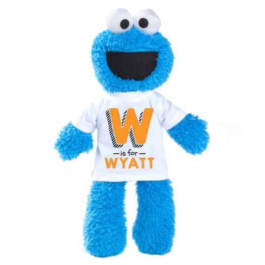Sesame Street Cookie Monster Plush with Personalized Initial Tee