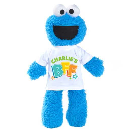 Sesame Street Cookie Monster Plush with Personalized BFF Tee