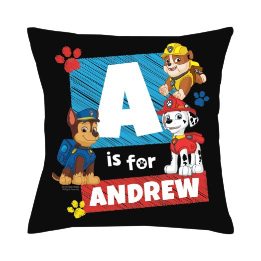 PAW Patrol Chase Initial Throw Pillow