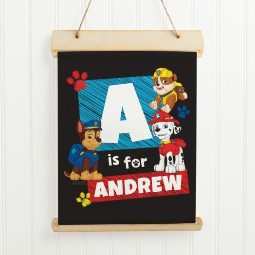 PAW Patrol Chase Initial Hanging Canvas