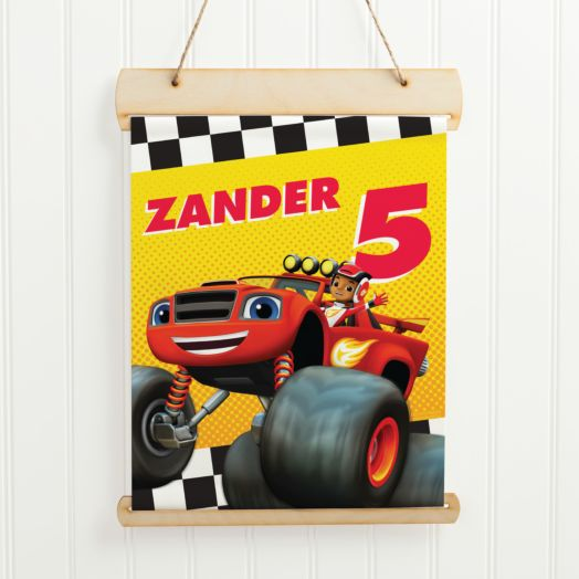 Blaze and the Monster Machines Hanging Birthday Banner