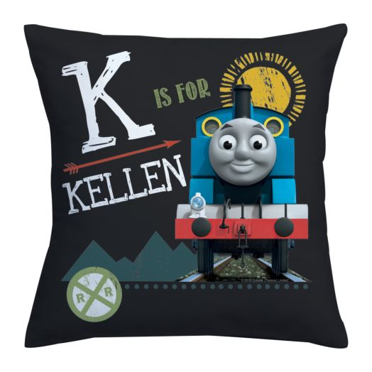 Thomas & Friends Chalkboard Initial Throw Pillow