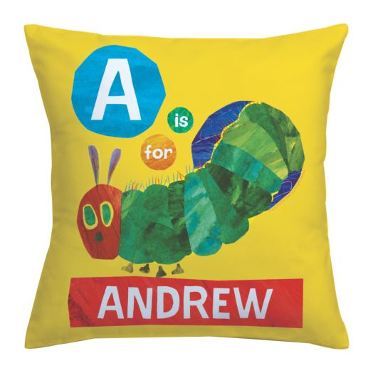 Very Hungry Caterpillar Alphabet Throw Pillow