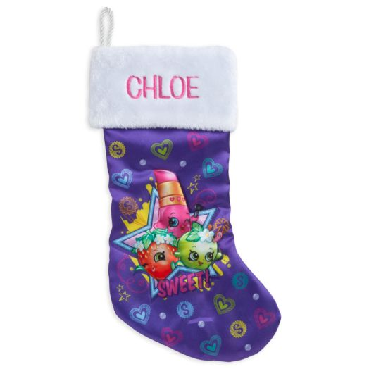 Personalized Shopkins Christmas Stocking