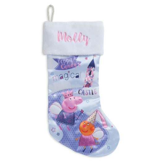 Personalized Peppa Pig Quilted Christmas Stocking