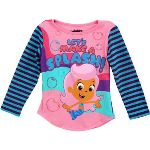 Bubble Guppies Lets Make a Splash Toddler Long Sleeve Tee
