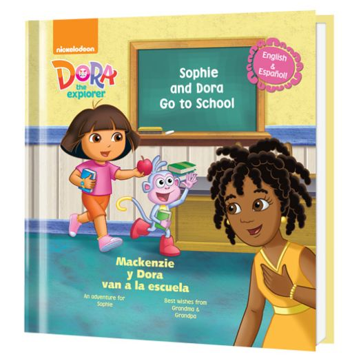 Dora Goes to School Personalized Book
