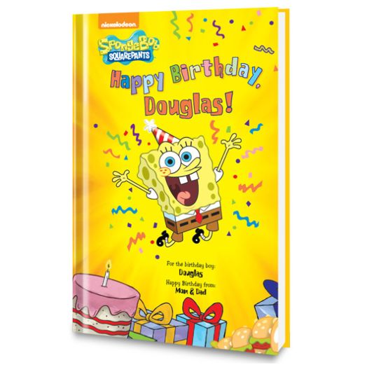 Happy Birthday, SpongeBob! Personalized Book