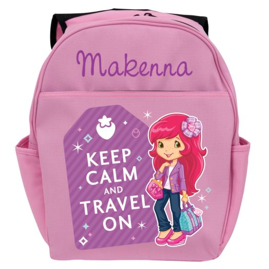 Strawberry Shortcake Keep Calm Pink Youth Backpack