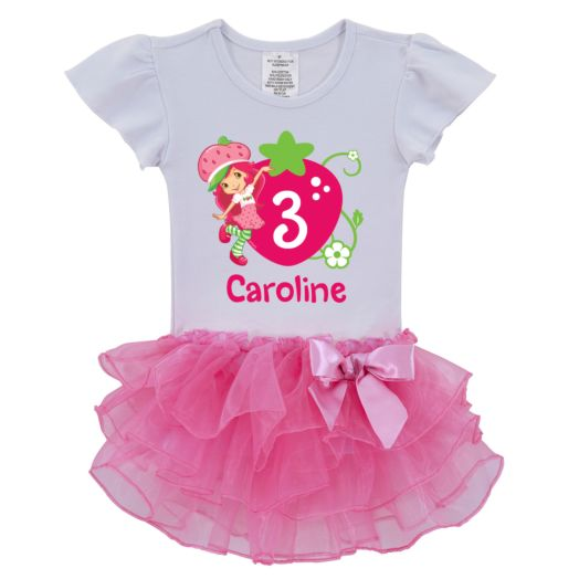 Strawberry Shortcake Berry Birthday Pink Tutu Shirt