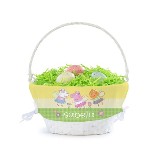 Personalized Peppa Pig Spring Basket