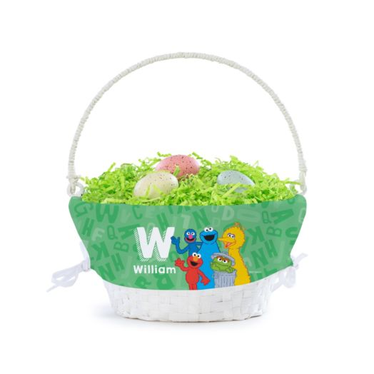 Personalized Sesame Street Alphabet Basket