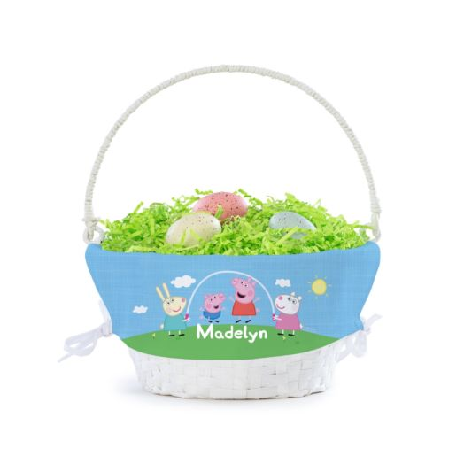 Personalized Peppa Pig & Friends Basket