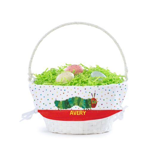 Personalized Very Hungry Caterpillar Basket