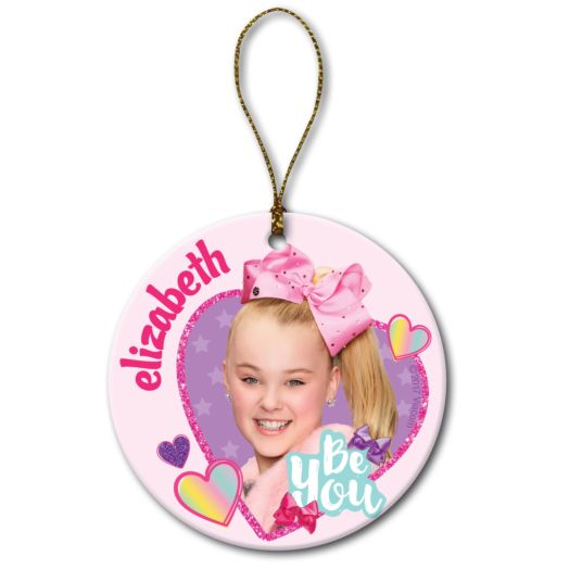JoJo Siwa Round Christmas Ornament