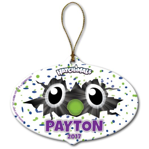 Hatchimals Oval Eyes Christmas Ornament
