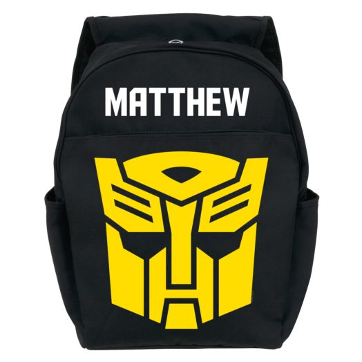 Transformers Robots in Disguise Bumble Bee Toddler Black Backpack