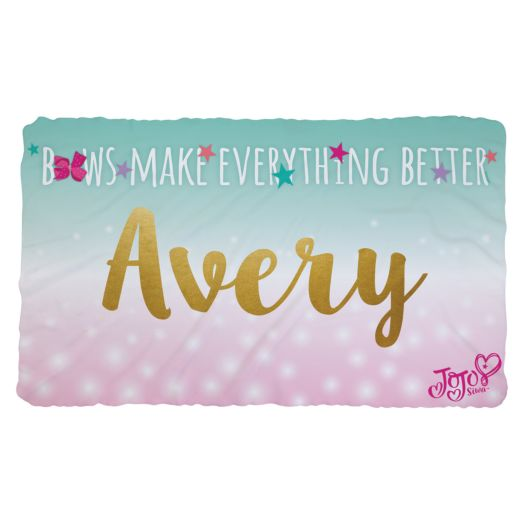 JoJo Siwa Bows Make Everything Better Fuzzy Blanket