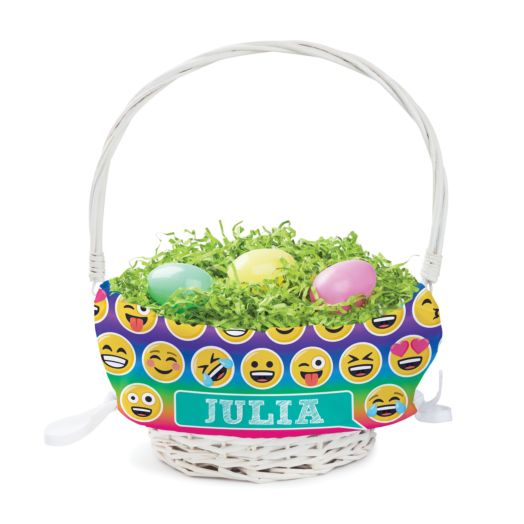 Personalized Emoji Easter Basket