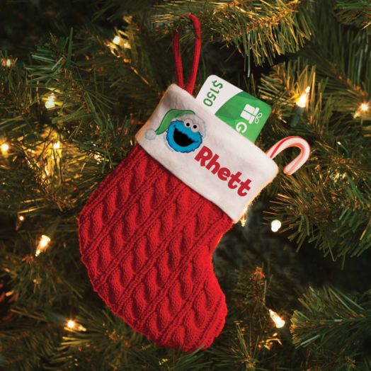 Sesame Street Cookie Monster Personalized Mini Stocking