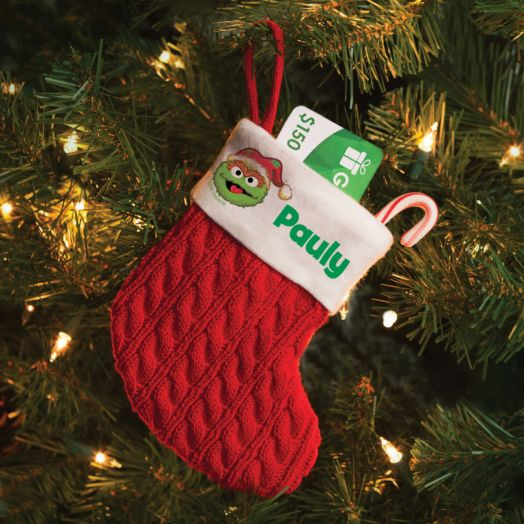 Sesame Street Oscar the Grouch Personalized Mini Stocking