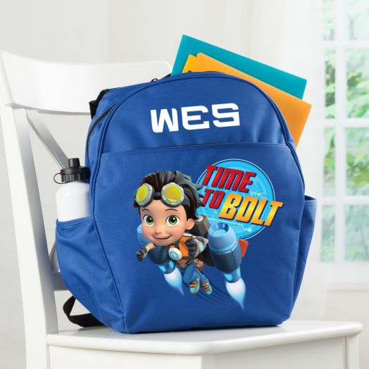 Rusty Rivets Time to Bolt Blue Youth Backpack