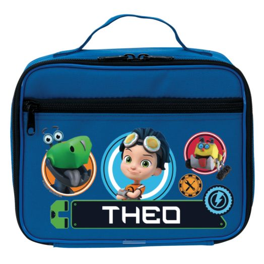 Rusty Rivets Personalized Blue Lunch Bag