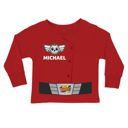 Top Wing Uniform Red Long Sleeve T-Shirt