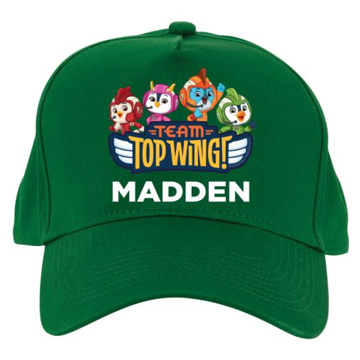 Top Wing Personalized Green Baseball Cap