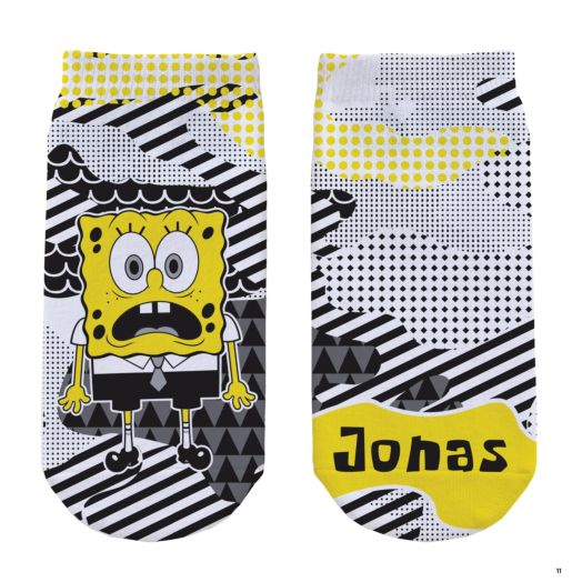 SpongeBob SquarePants Adult No-Show Socks