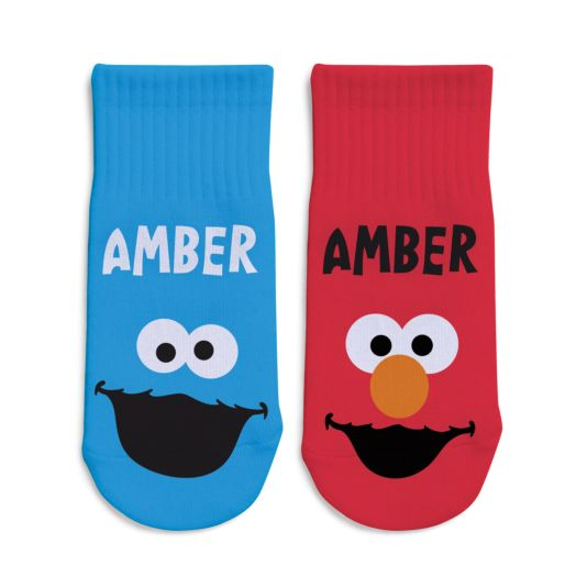 Sesame Street Cookie Monster & Elmo Toddler Socks