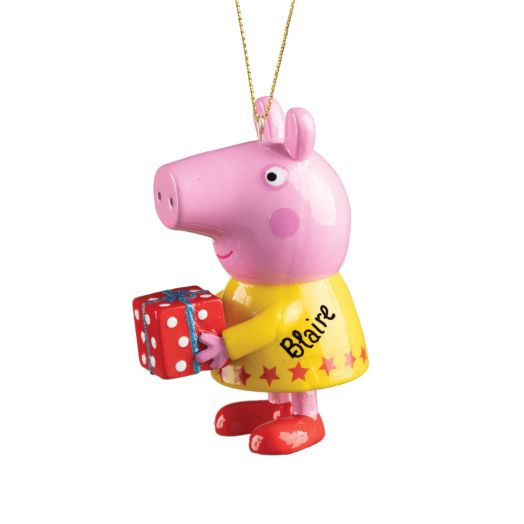 Peppa Pig Yellow Dress with Present Ornament