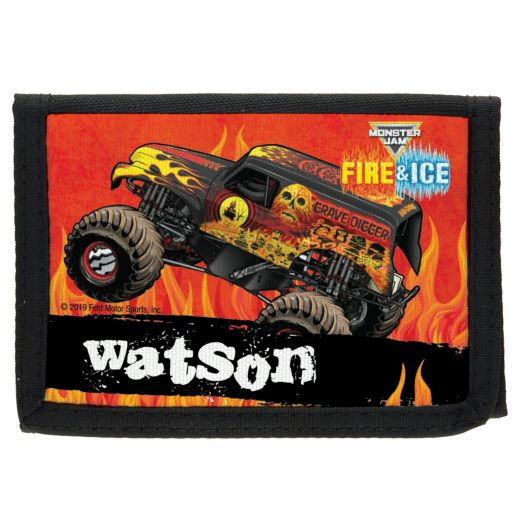 Monster Jam On Fire Personalized Wallet