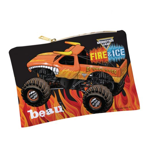 Monster Jam On Fire Personalized Pouch