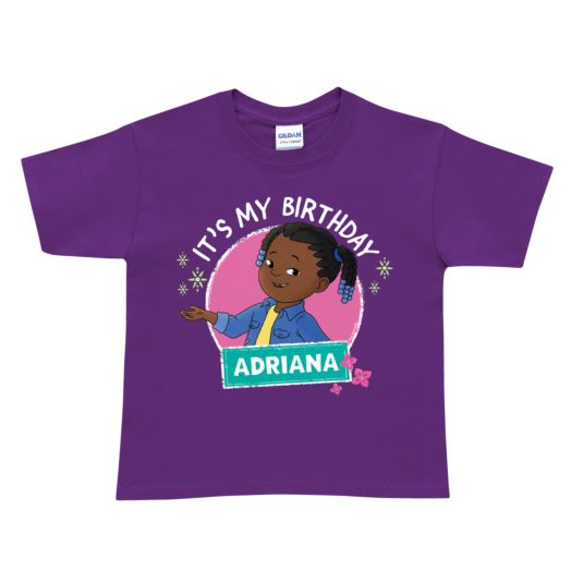 "Molly Of Denali Personalized Purple ""It's My Birthday' T-Shirt"
