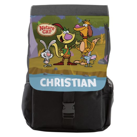 Nature Cat Personalized Backpack