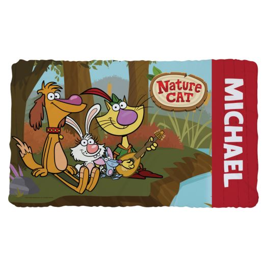 Nature Cat Personalized Fuzzy Blanket