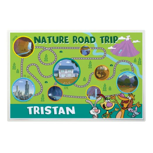 Nature Cat Personalized Placemat